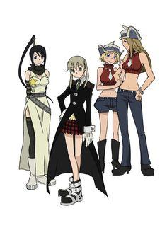 Tsubaki, Maka, Patti and Liz