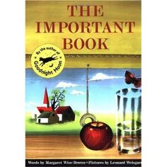 The Important Book - Main idea and details/beginning of the year activity