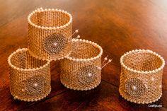 Burlap Napkin Rings set of 6 by Craftytude on Etsy, $12.00