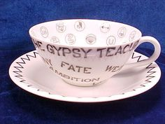 Vintage 1959 The Gypsy Teacup Fortune Telling California Creations Mid- Century
