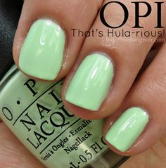 OPI That's Hula-rious! Nail Polish Swatches // Hawaii Collection for Spring 2015