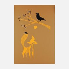 Aesop's Fox and Crow 19x25 now featured on Fab.