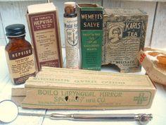 Antique medical supplies. $18.00, via Etsy.