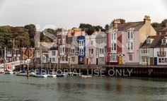 Row Of  Colourful Terraced Houses Weymouth Dorset royalty-free stock photo