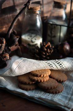 Chestnut cookies with maple glaze   Gourmantine