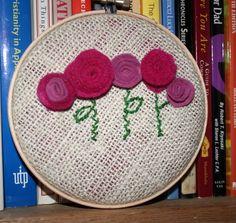 Lovely Poppy Embroidery Hoop Art
