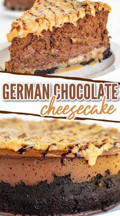 Best No Bake Cheesecake, Easter Cheesecake, Baked Cheesecake Recipe, German Chocolate Cheesecake, German Chocolate Cupcakes, Oreo Crust, No Bake Bars, Dessert Dishes, Peanut Butter Recipes