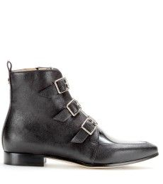 Jimmy Choo - Marlin patent and leather ankle boots