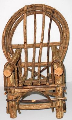 Beau Doll Size Handmade Grapevine Chair #Unbranded