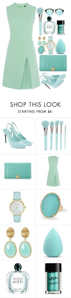 """#272"" by londero-danielle ❤ liked on Polyvore featuring Jil Sander, Forever 21, Chanel, Kate Spade, Anne Sisteron, Rivka Friedman, My Makeup Brush Set, Giorgio Armani, NYX and Madewell"