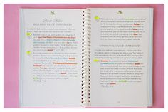 Color coding your personal progress book to make it easier and faster to complete it!