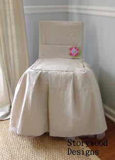 no sew slipcovered chair drop cloth bridesmaids dress