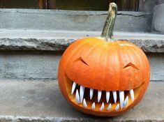 For pumpkins with bite: pumpkin teeth!