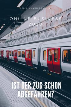 Online Business 2020 - Ist der Zug schon Abgefahren?  #onlinebusiness #erfolg #onlinebusinessaufbauen #onlinebusinessideen #coaching #coachingberatung Coaching, Influencer, Content Marketing, Online Business, Train, Motivation, Website, Building, Knowledge