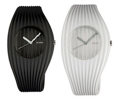 Alessi has a new watch, called Grow, designed by Andrea Morgante and Shiro Studio. The watch takes its inspiration from Morgante's other designs for Alessi, including the Megapetra tray and the Phylum lamp.