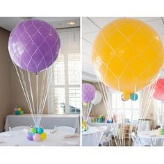 Balloon nets for latex balloons in 36 inch, 24 inch and 16 inch - Hot Air Balloon Centerpiece