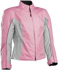 First Gear Allure Womens Textile Jacket-Pink / Graybikerperformance.com