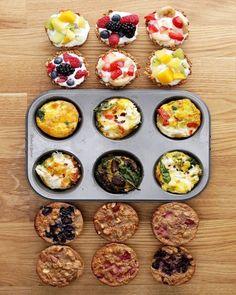 One Muffin Tin, Three Healthy Breakfasts