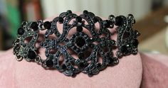 Vintage Onyx and Marcasite Bracelet by GemsInTheAttic on Etsy