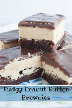 Fudgy Peanut Butter Brownies- a rich chocolate and peanut butter dessert that easy to make! via @https://www.pinterest.com/mindeescooking/