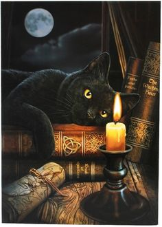 1 x WITCHING HOUR GREETING CARD Wicca Pagan Witch Goth  LISA PARKER PAGAN CARD