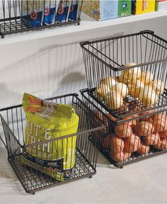 Smart way to store bottom shelf pantry items! InterDesign Storage Bin | #macysdreamfund