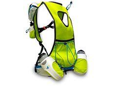 RaidLight Ultra Olmo R-Zone Race Vest with Bottles and Flasks - White Lime Green Running Gear, Trail Running, Kilian Jornet, Ultra Marathon, Flasks, Lime, Bottles, Vest, Racing
