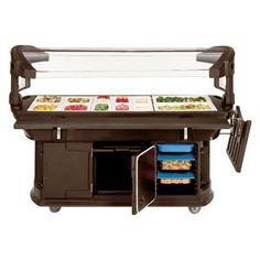 Carlisle 771101 Brown 6' Maximizer Portable Food / Salad Bar