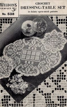 Weldons 538 - crochet table doilies - vintage crochet pattern