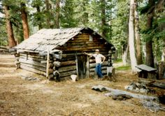 Prospect cabin of Fred W. Denner, Sierra Nevada Mts. South Lake Tahoe Calif.