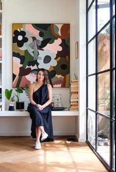 Australia House Tour: Artist Rachel Castle& Fun Home Living Room Paint, Living Room Interior, Living Rooms, Bed Linen Australia, Australia House, Bondi Australia, Interior Paint Colors, Interior Painting, Purple Interior