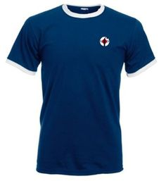 Northern Soul Clothing Ringer T-Shirts Navy & White from Men Of Distinction