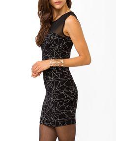 Geo Print Bodycon Dress | $10.80 FOREVER21 - 2035471142