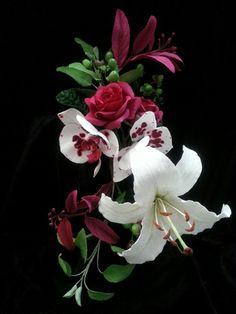 Sugar flower arrangement.