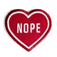 Nope Heart Patch