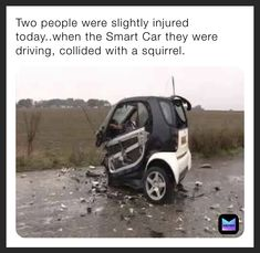 Smart Auto, Smart Car, Pictures Of The Week, Best Funny Pictures, Cool Pictures, Funny Car Memes, Funny Fails, Funny Shit, Ems Funny