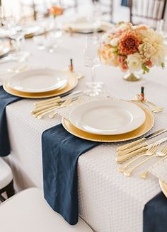 Navy wedding via The Knot.