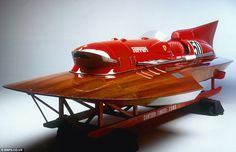 ARNO XI Hydroplane craft – A speedboat build in 1954 powered with 12-cylinder, 4,500cc, V12 Ferrari engine - the same as can be found in the Type 375 Grand Prix car.