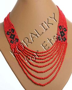 Traditional Ukrainian Folk Handmade Jewelry Beads door koraliky, $28.30