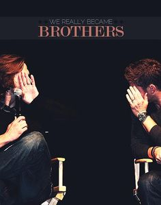 ... I get so many 'brotherly love feels' when I watch SPN I usually can't make it through an episode without wanting to cry.