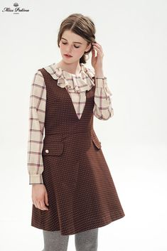 Brown Sugar Dress (Brown) - Miss Patina - Vintage Inspired Fashion