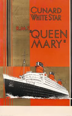 Jarvis poster: Cunard White Star RMS Queen Mary