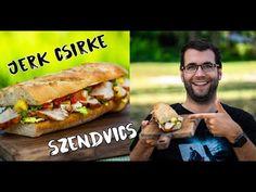 🥪 Jerk CSIRKE szendvics ananászos salsával 🥪 - YouTube Hot Dog Buns, Hot Dogs, Jamaica, Salsa, Bacon, Bread, Ethnic Recipes, Beverages, Heaven