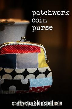 Patchwork coin purse