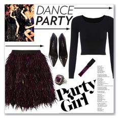 """#danceparty"" by keri-cruz ❤ liked on Polyvore featuring Alice + Olivia, Louis Vuitton, Maybelline and dancyparty"