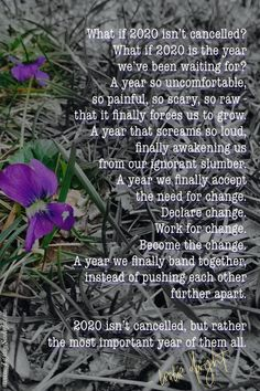 As excruciating as it is, this might be the year needed in order to create the change we need. We Need, Awakening, Perspective, Encouragement, Change, Create, Point Of View