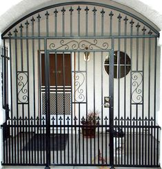 Door And Window Security Grilles - A security door is an effective solution to add an additional component of protection for Grill Gate Design, House Gate Design, Window Security, Security Gates, Burglar Bars, Tor Design, Door Grill, Wrought Iron Gates, Entry Gates