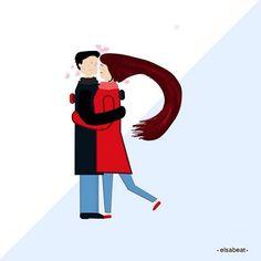 Day 18 #R for #retrouvailles #romance #reunion or something #36daysoftype #illustration #vectorart #vectorillustration //día 18 de #36diasilustrando o #36diasdetipos #ilustraciondigital #ilustradora y así :)