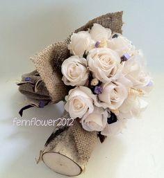 @Christina Kleymeer  - Rustic Flower girl Bridesmaid Toss Bouquet Rose by fernfIower, $25.70