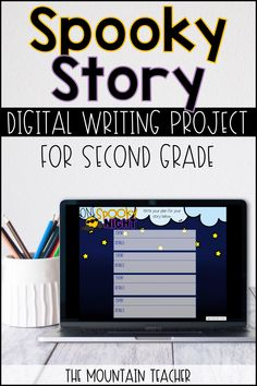 Spooky Story Narrative Google Slides Writing Project for Distance Learning